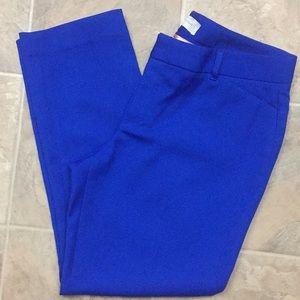 Gap Cobalt Royal Blue Slim Cropped Ankle Pants C9